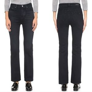 Alexa Chung For AG Black Cropped Bootcut Jean